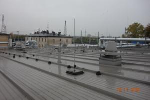 obiekt przemysłowy wraz z wykonaną instalacją odgromową